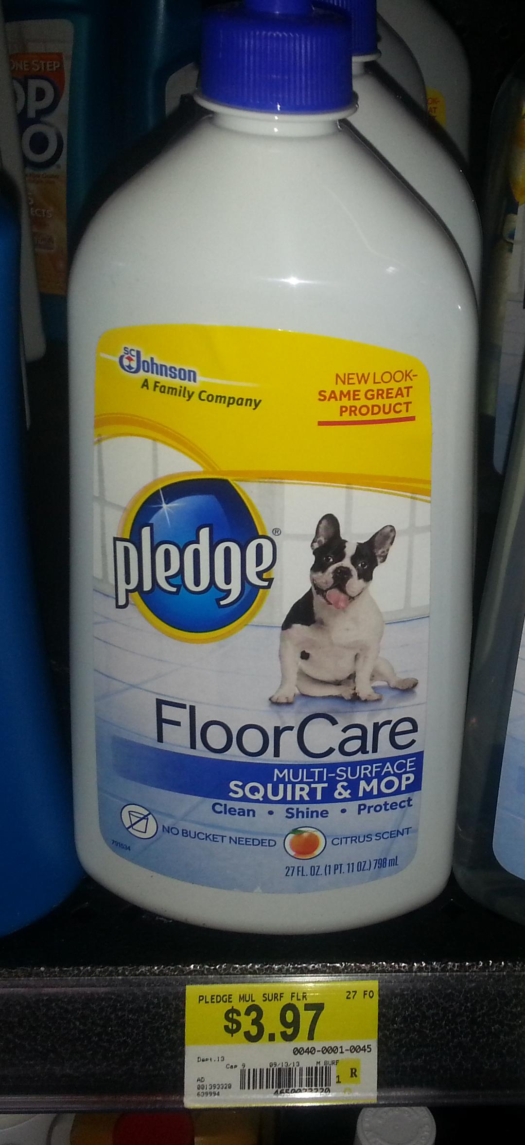Pledge FloorCare Just $2.47 at Walmart!