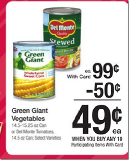 Walmart Price Match deal: Green Giant Canned Vegetables Just $.24!