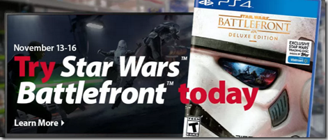 Try Star Wars Battlefront Today at Walmart and Preorder Your Copy for a Special Bonus!