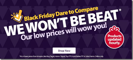 Walmart's Dare to Compare Site Automatically Compares Walmart's Prices to Their Competitors!