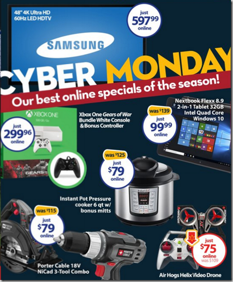 The 2015 Walmart Cyber Monday Ad is Out!