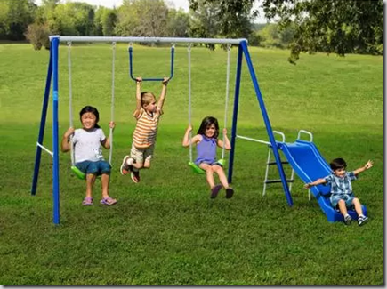 Walmart Cyber Week Rollback Deal: Flexible Flyer Metal Swingset Just $79!