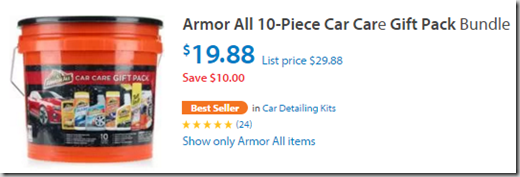 Save $6.50 on an Armor All Car Care Gift Bucket at Walmart!