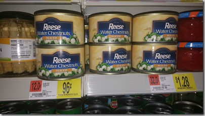 Reese Water Chestnuts Just $.21 at Walmart!