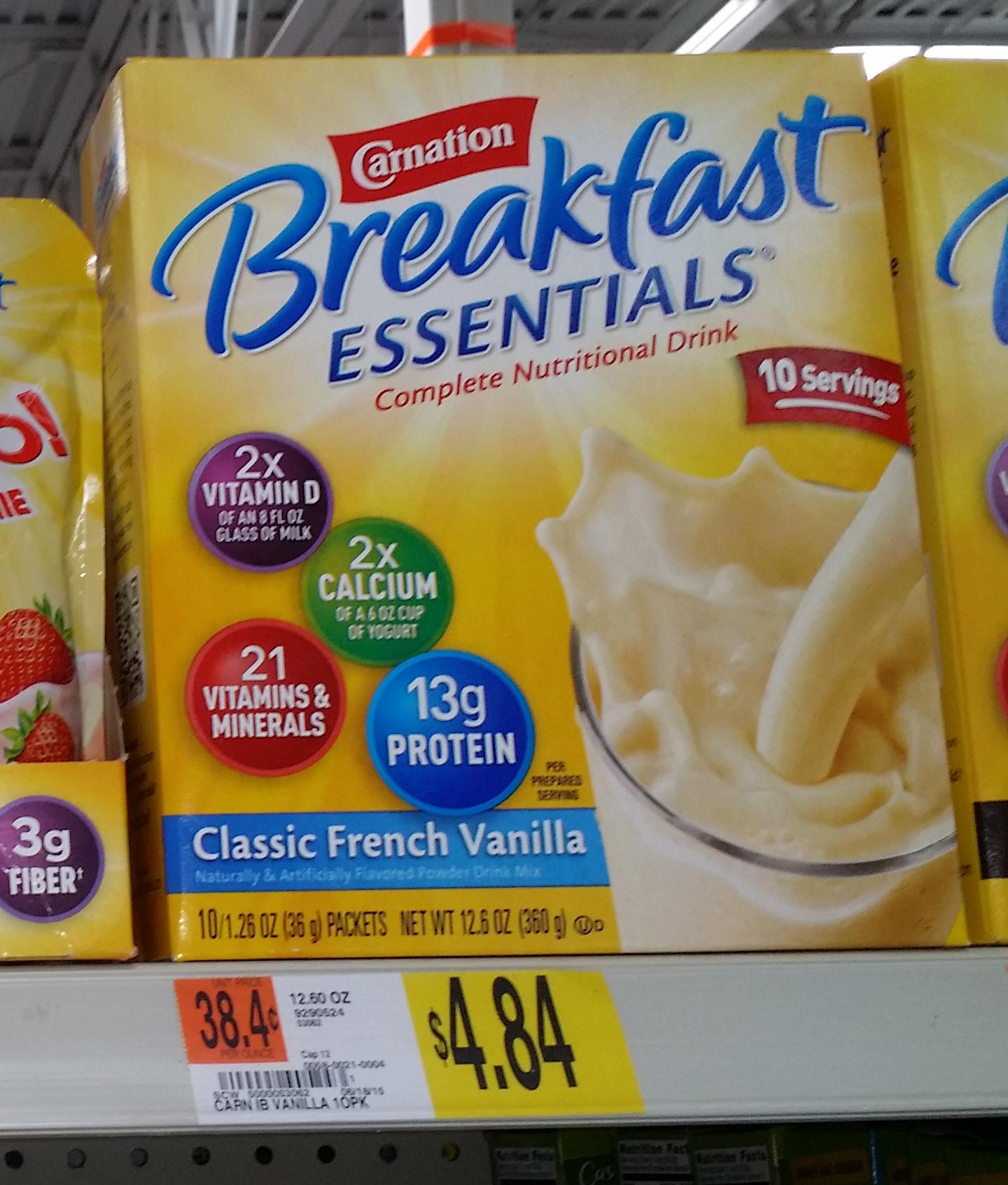 Carnation Breakfast Essentials Powder Drink Mix Just $3.34 at Walmart!