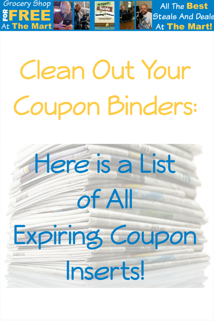 Clean Out Your Coupon Binders Here is a List of All Expiring Coupon Inserts! pin