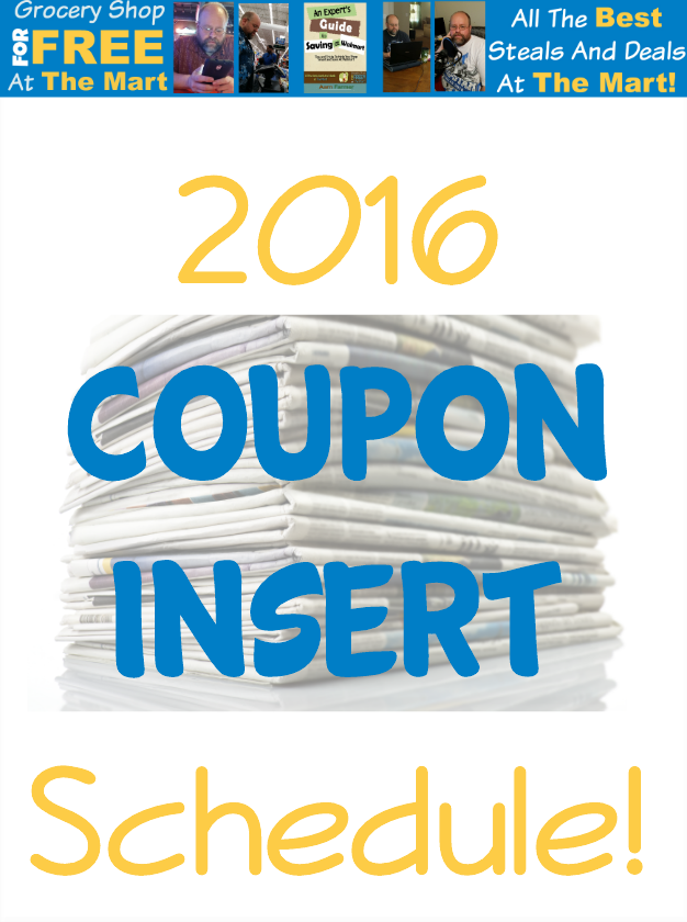 GSFFATM 2016 Coupon Insert Schedule Featured Image
