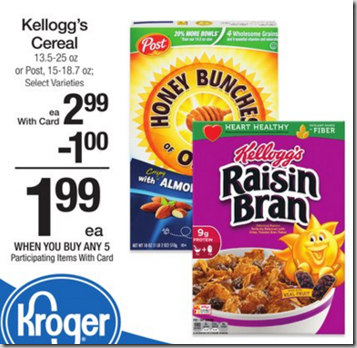 Walmart Price Match Deal: Kellogg's Cereal Just $.99!