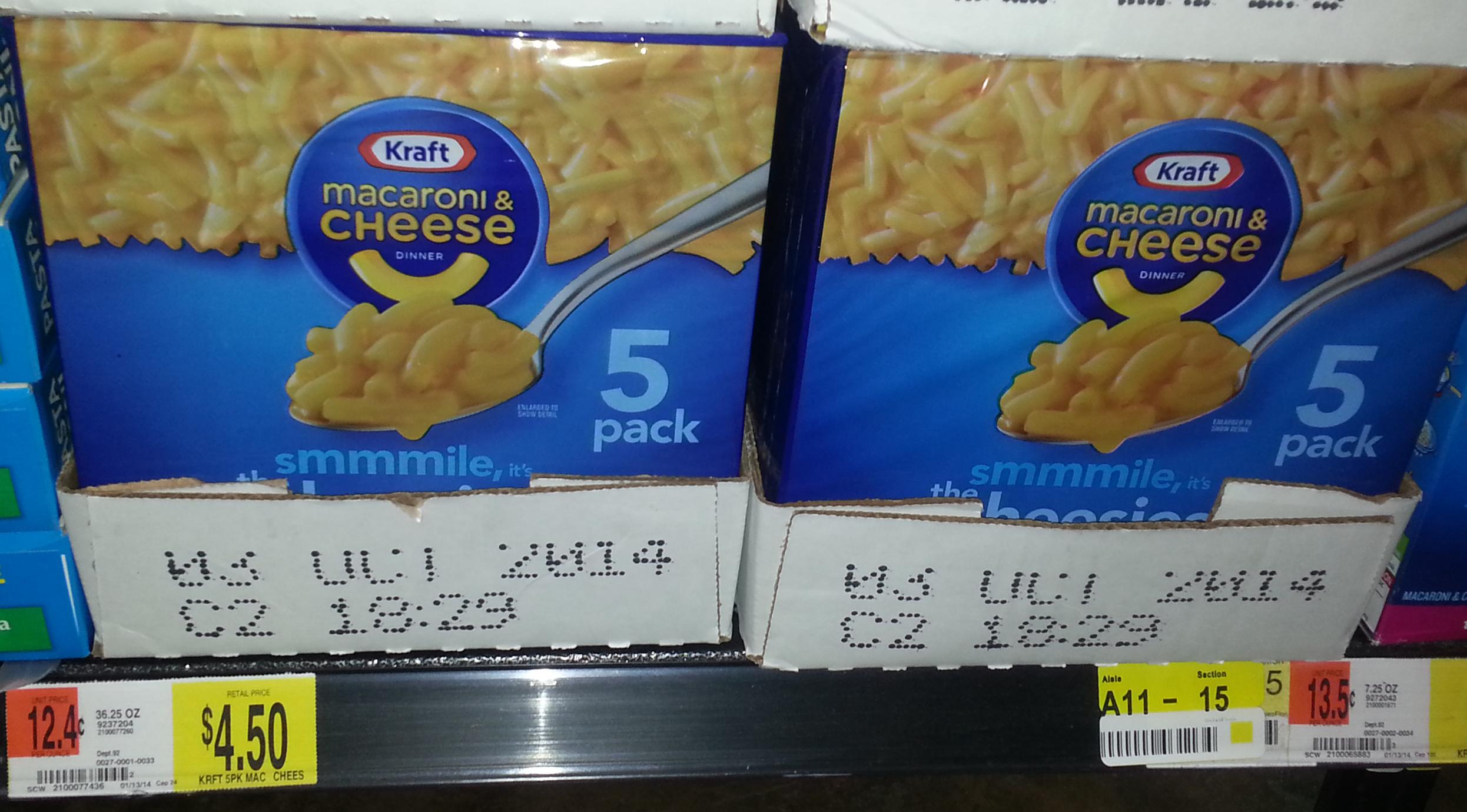 Kraft Macaroni & Cheese Dinner 5 Pack Just $3.50at Walmart!