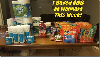 How I Saved $58 at Walmart This Week!