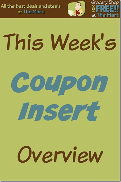 1/10 Coupon Insert Overview!
