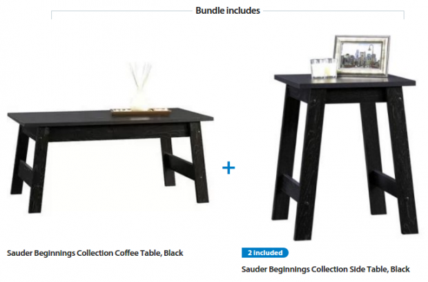Sauder Beginnings 3 Piece Coffee and End Tables Just $59 Down From $69!