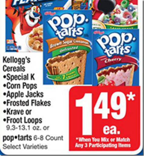 Walmart Price Match Deal: Kellogg's Pop Tarts Just $1.16!