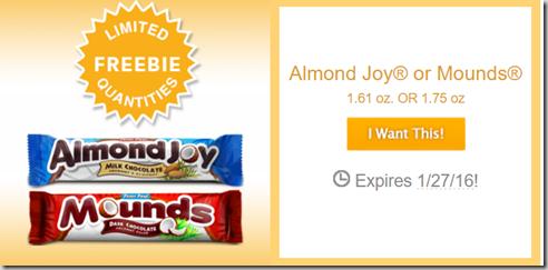 FREE Almond Joy or Mounds Candy Bar at Walmart!
