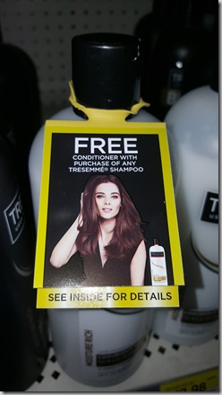 FREE TRESemme Conditioner When You Buy TRESemme Shampoo!