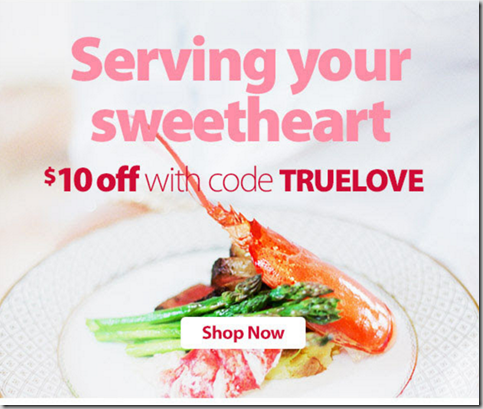Save $10 on Your Valentine's Day Dinner at with Walmart Grocery Pickup!