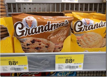FREE Grandma's Cookies with Overage at Walmart!