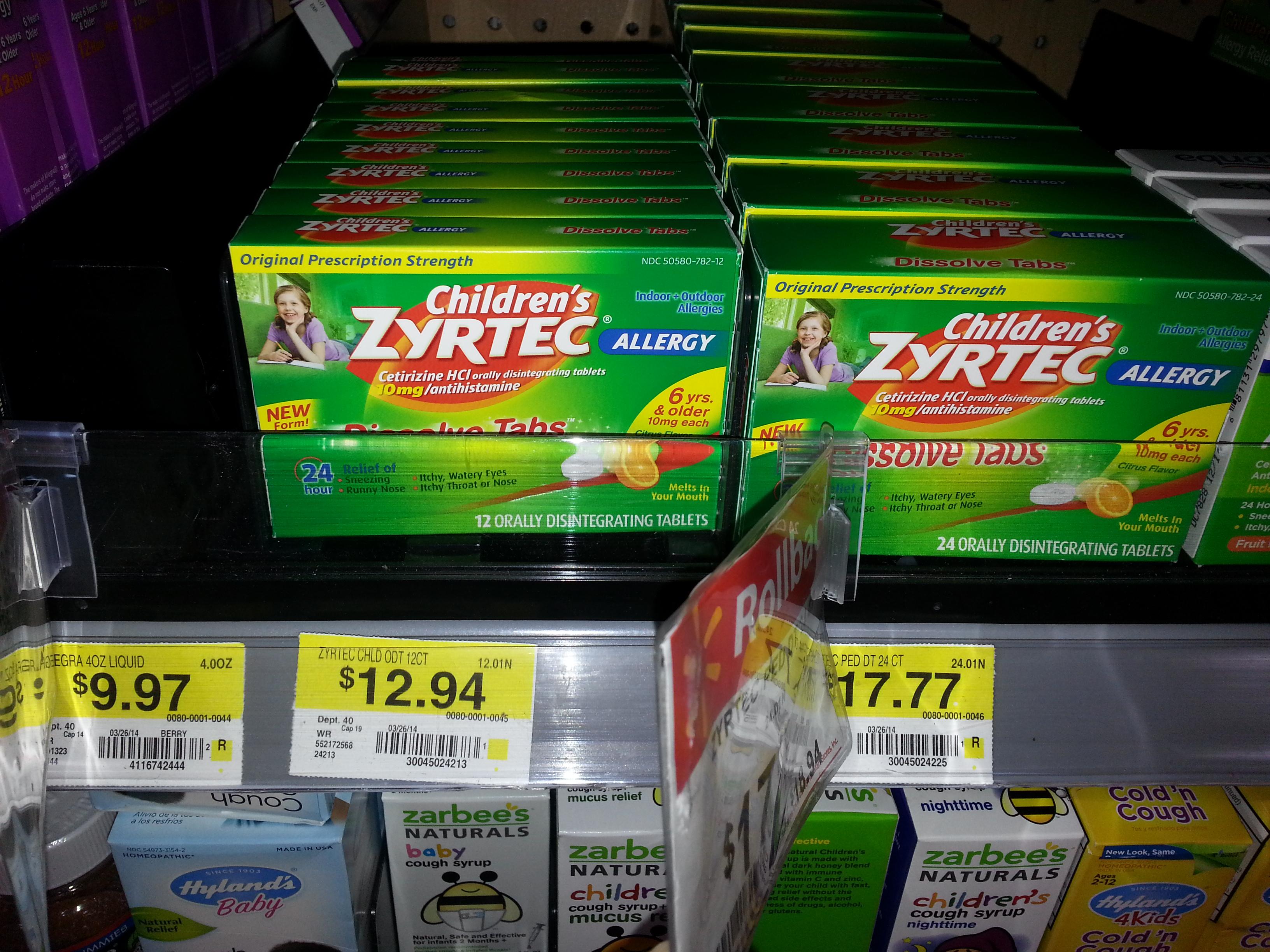 Children's Zyrtec Just $10.94 At Walmart!