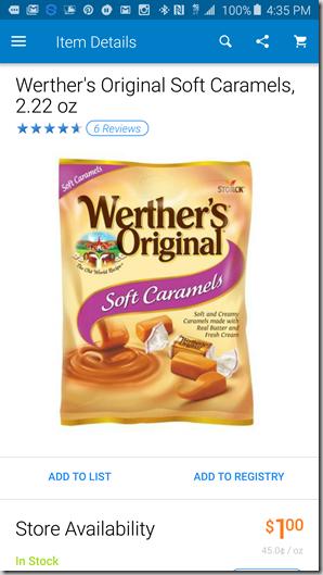FREE Werther's Originals Caramels at Walmart!
