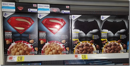 Half Price Superman or Batman Cereal at Walmart!