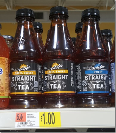 Snapple Straight Up Tea Just $.67 at Walmart!