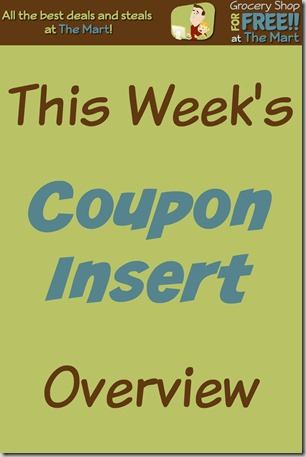 5/15 Coupon Insert Overview!