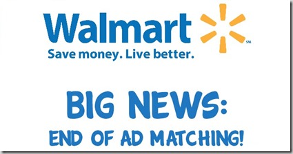 Walmart Announces the End of Ad Matching in 500 Stores Nationwide!