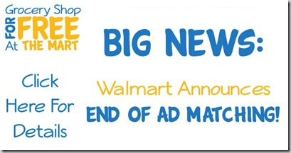 Walmart Announces the End of Ad Matching!