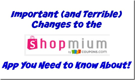 Important (and Terrible) Changes to the Shopmium App You Need to Know About!
