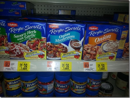 Lipton Recipe Secrets Just $.98 at Walmart!