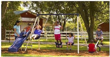 Flexible Flyer Swing Free Metal Swing Set Frodo Fullring Co