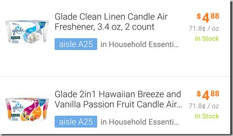 Glade Jar Candles Twin Pack Just $.13 at Walmart!