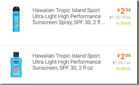 FREE Hawaiian Tropic Sunscreen with Overage at Walmart!