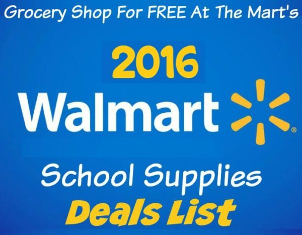 2016 Walmart School Supplies List!