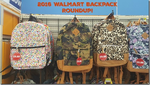 2016 Walmart Backpack Roundup!