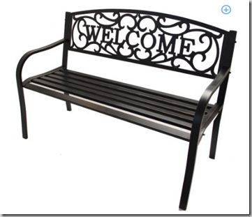 Better Homes and Garden Welcome Bench on Rollback for $59.99!