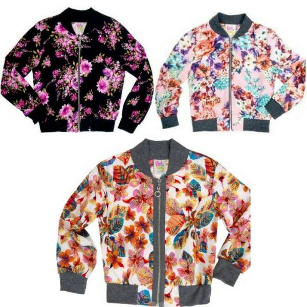 Girls Printed Bomber Jacket Just $5.50! Down From $23!