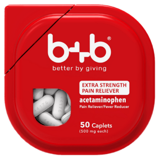 B+B Extra Strength Acetaminophen Just $0.48 At Walmart!