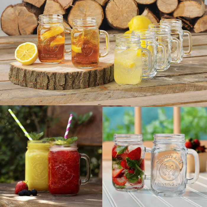 8-Piece Drinking Jar Set