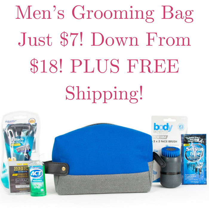 Men's Grooming Bag Just $7! Down From $18! PLUS FREE Shipping!