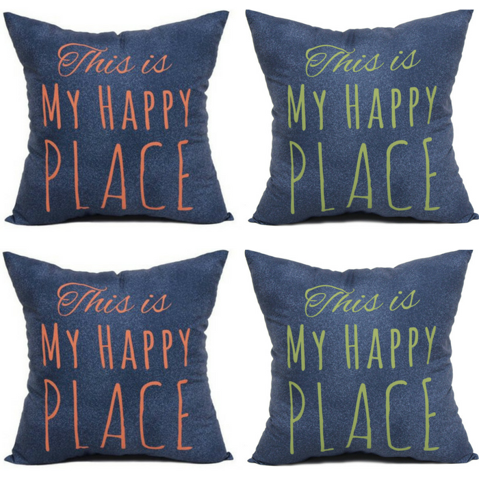 Mainstays Happy Place Pillow