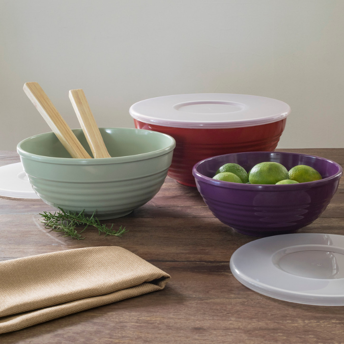 Mainstays Ribbed Serve Bowls Set