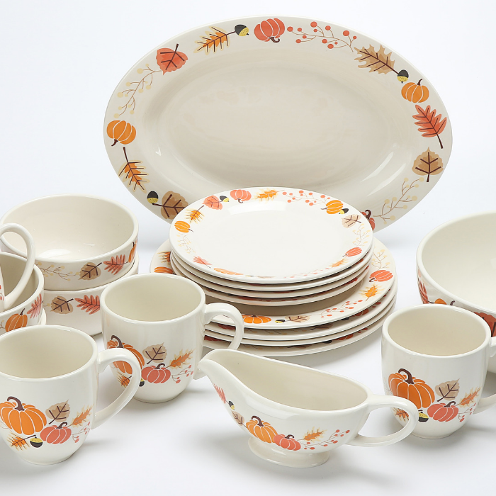 Mainstays 19-Piece Dinnerware Set