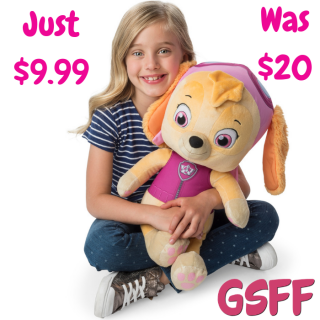 Skye Jumbo Plush Just $9.99! Down From $20!