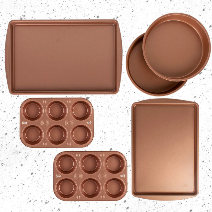 6-Piece Copper Bakeware Set