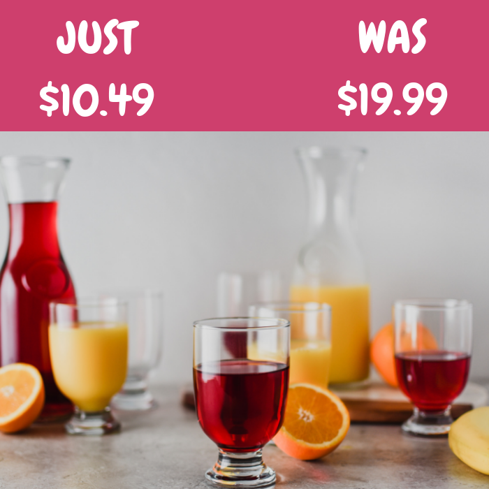 Juice Pitchers & Glass 10-Piece Set