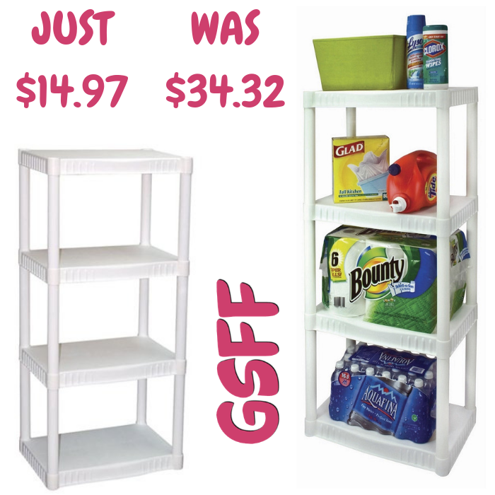 4-Tier Plastic Shelves