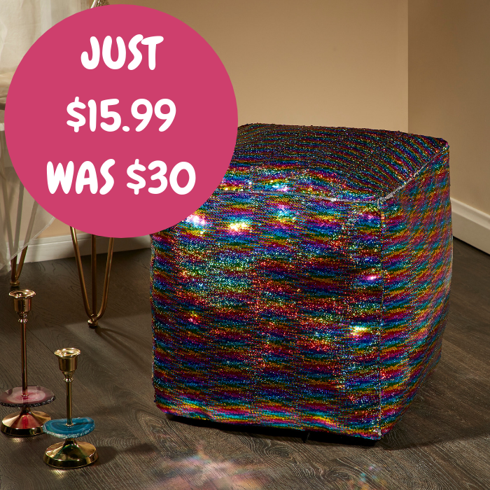 Mainstays Sequin Pouf