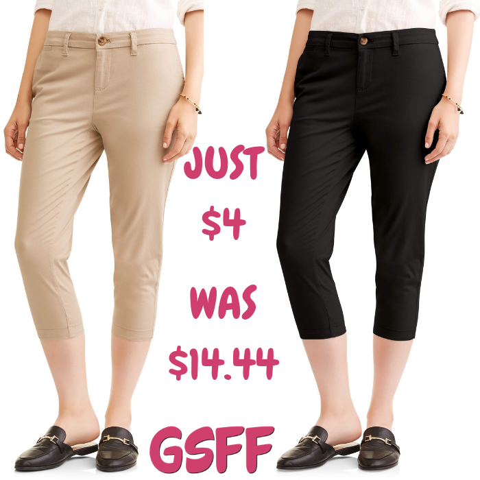 Women's Chino Capri Pants