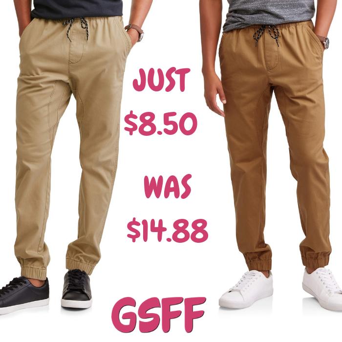 Men's Twill Jogger Pants